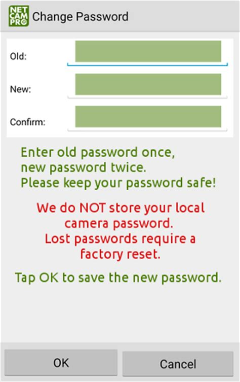 change password on android netcro live view netcrolive