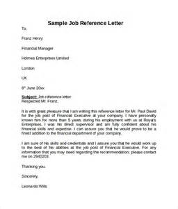 Reference Letter For Not So Employee Reference Letter 7 Free Sles Exles Formats