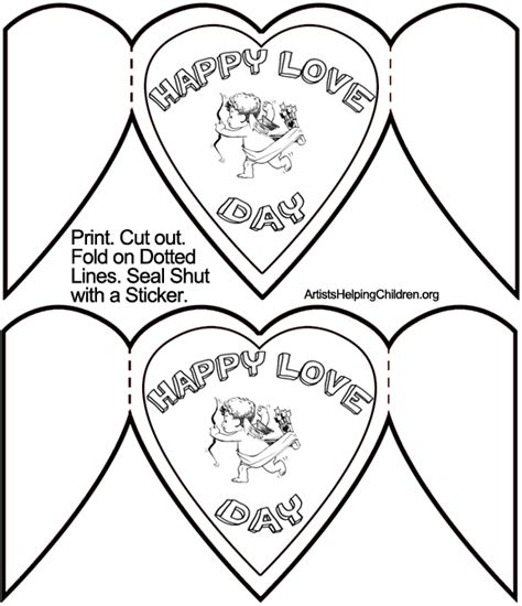valentines day card template for how to make cupid valentines day cards crafts