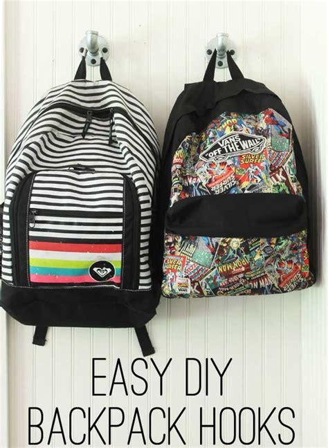 ideas for hanging backpacks easy diy backpack hooks
