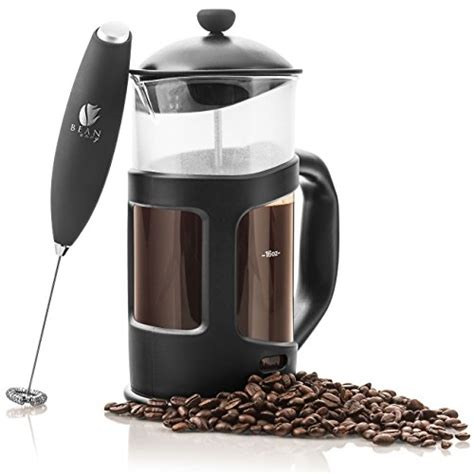Subron Stainless Press Tea Coffee Plunger Milk Frother 800ml bean envy 34 oz press coffee espresso and tea maker premium bundle includes electric