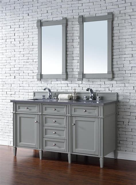 bathroom vanity cabinet no top james martin brittany collection 60 quot double vanity urban gray