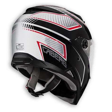 caberg stunt blade motosiklet kaski beyaz siyah kirmizi