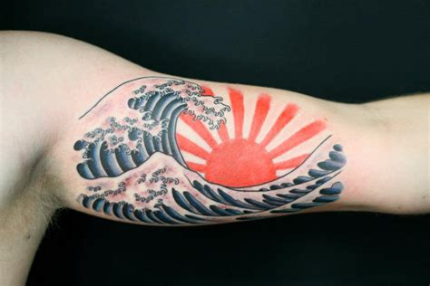 rising sun tattoos designs japanese rising sun ditch wave by