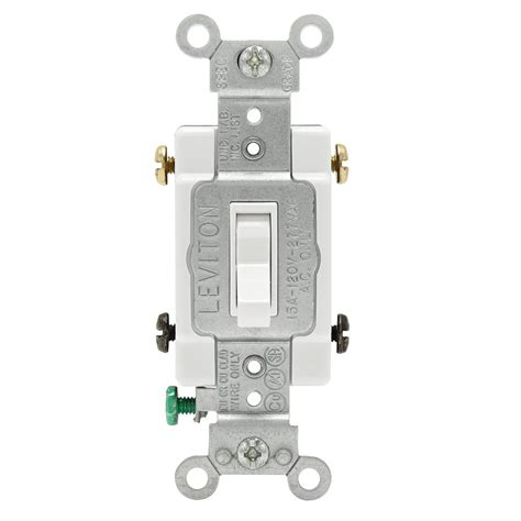 leviton electrical switches leviton 15 single pole toggle framed 4 way ac switch white r52 54504 2ws the home depot