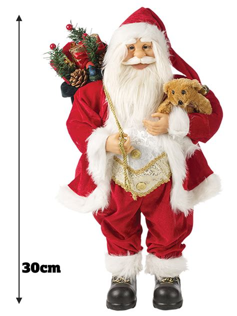 santa figure standing santa claus decoration