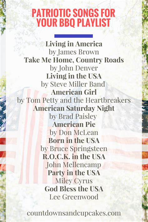 10 perfectly patriotic songs for your bbq countdowns and