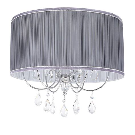 L Shade That Fits On Light Bulb by L Amour Easy Fit Shade Grey From Litecraft