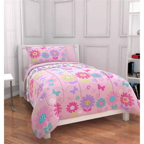 Toddler Bed In A Bag Sets New Mainstays Floral Bed In A Bag Complete Bedding Set Ebay