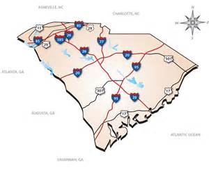 carolina highway map south carolina interstate map south carolina mappery