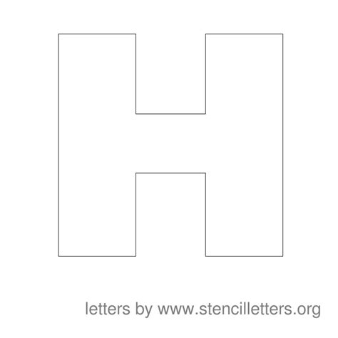 large printable letter h image gallery letter h stencil