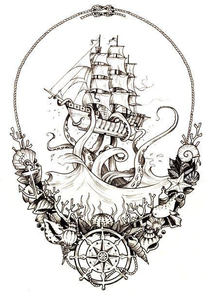 dessin bateau pirate tatouage les 25 meilleures id 233 es concernant tatouage pirate sur