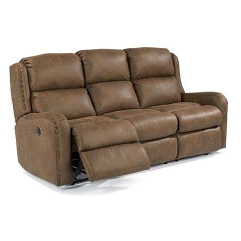 Discount Reclining Sectionals by Flexsteel 4892 62m Cameron Fabric Power Reclining Sofa