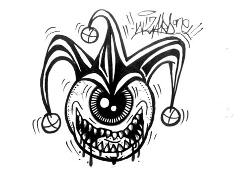imagenes de joker graffiti one eye graffiti joker sticker by wizard1labels on deviantart