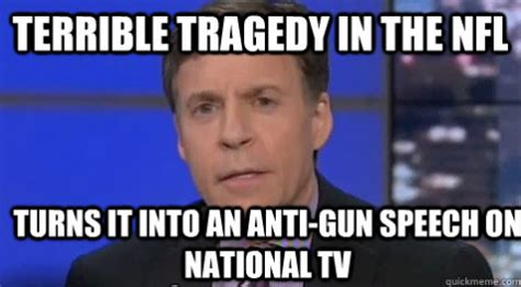 Bob Costas Meme - nbc s bob costas blames nfl murder suicide on guns