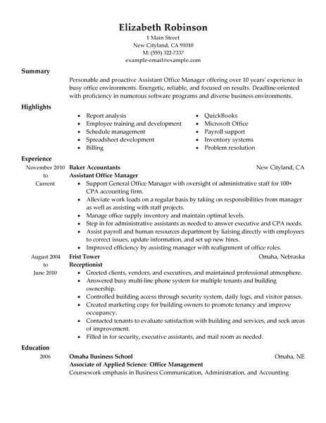 sle of office assistant resume 28 images office staff