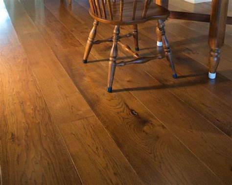 Wide Plank Distressed Hardwood Flooring by Hickory Wood Flooring And Distressed Wood Flooring From