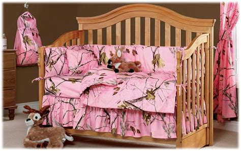 Realtree Pink Camo 3 Piece Crib Bedding Set Girls Nursery Realtree Pink Camo Crib Bedding