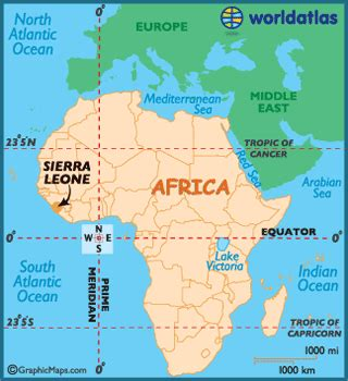 sierra leone maps including outline  topographical maps
