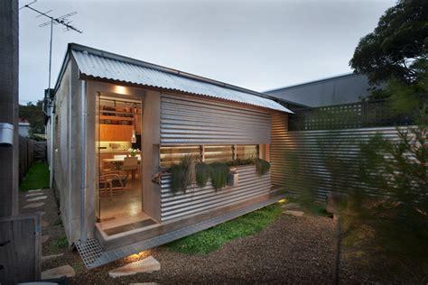 compact australian home clad  steel  concrete dwell