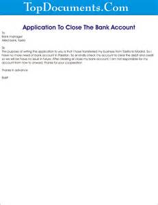 Account Closing Application Letter Sample Letter Of Request For Closing Bank Account Letter