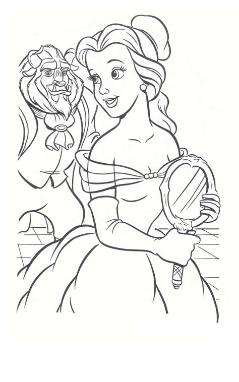 beauty and the beast rose stained glass coloring page
