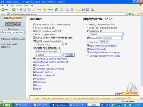 membuat database mysql dengan phpmyadmin cara membuat database mysql di phpmyadmin dengan xampp