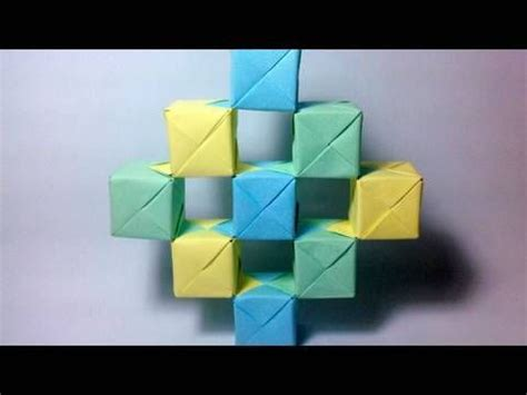 Origami Moving Cubes - how to make an origami moving cubes using sonobe units