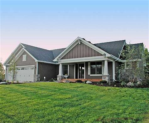 walkout ranch house plan surprising sloped lot plans ranch home plan with optional lower level 14315rk 1st