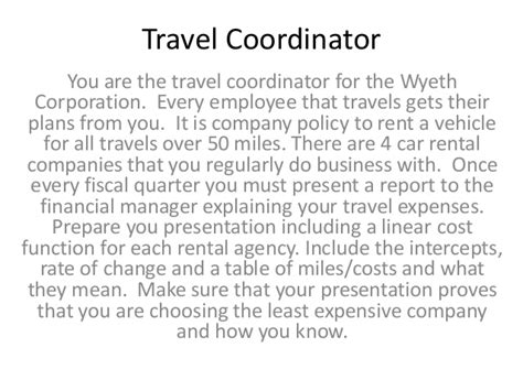 Travel Coordinator by Travel Coordinator Project