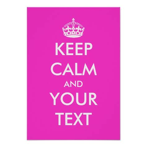 design free keep calm poster pink keep calm poster template zazzle