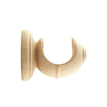 wood curtain bracket ebro short wall bracket for 1 3 8 inch pole