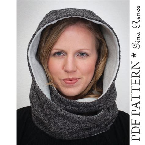 free pattern and directions to sew a hooded scarf a hat