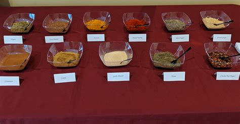 spice table activity spices  senior dining food management