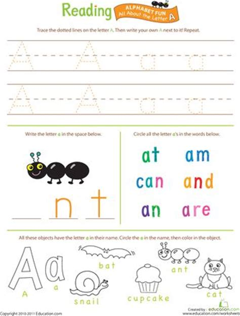 Beginning Reading Worksheets by Alphabet Worksheets Letters A Z With The Help Of These