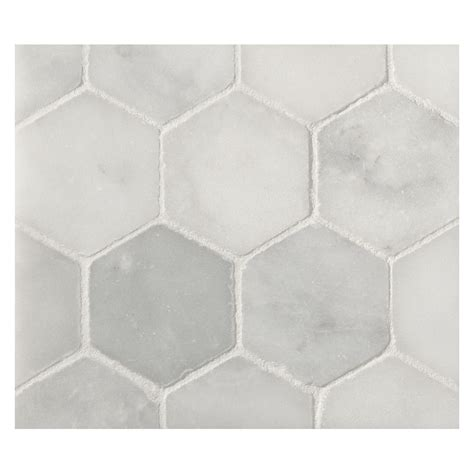 mosaic hexagon pattern hexagon 2 quot mosaic tile honed mollyno white marble