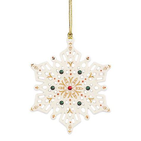 lenox china ornaments lenox 174 china jewels snowflake ornament bed bath beyond