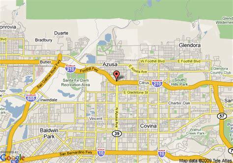 azusa zip code map california azusa