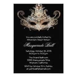 custom sweet sixteen masquerade ball invitations 13 cm x
