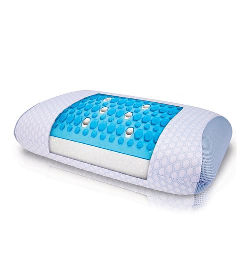 Pillow Gel by Sensorpedic Sensorcool Dual Sided Gusseted Memory Foam