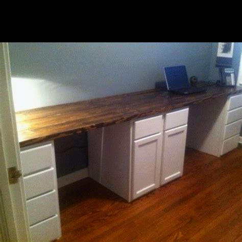 ikea desk base cabinets his and hers desk we built this past weekend unfinished