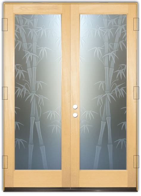 Bamboo Shoots 3d Private Etched Glass Doors Asian Decor Bamboo Glass Door