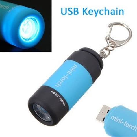 mini led keychain light mini keychain pocket torch moon light usb rechargeable led