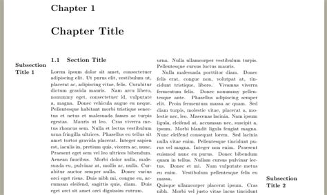 latex memoir tutorial marginpar margin notes and subsection titles in both