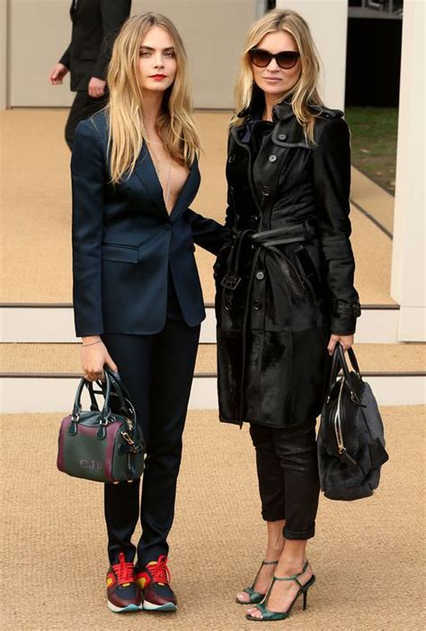 The Burberry Prorsum Dress Worn By Kate Moss Watts And Hathaway by Kate Moss And Cara Delevingne Make A Stylish Arrival At