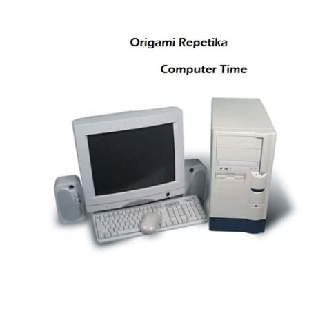 How To Make A Origami Computer - computer time origami repetika free