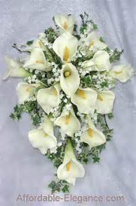 silk wedding bouquet ivory or white bridal bouquet calla lilies silk wedding flowers large ebay