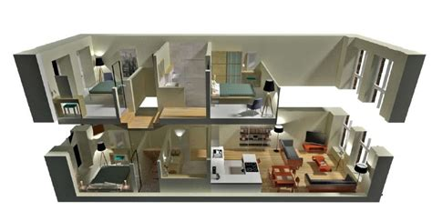 2 bedroom floor plans roomsketcher modern 3d 2 story floor plans on apartments with 2 story