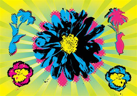 fiori warhol warhol flowers vector graphics freevector