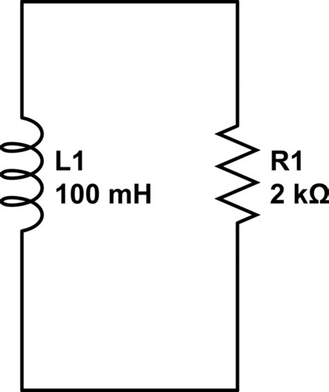 current through inductor and resistor voltage and current calculations resistor and inductor in parallel electrical engineering